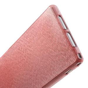 Kartáčované pouzdro na Sony Xperia Z1 C6903 L39- světlerůžové - 5