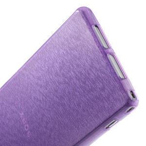 Kartáčované pouzdro na Sony Xperia Z1 C6903 L39- fialové - 5
