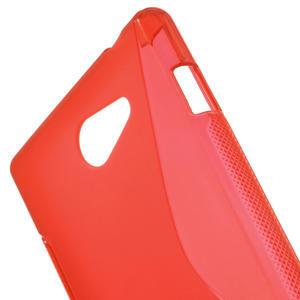 Gelové S-line pouzdro na Sony Xperia M2 D2302- červené - 5