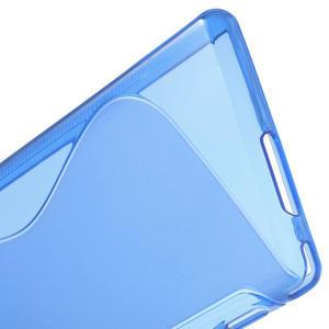 Gelové S-line pouzdro na Sony Xperia M2 D2302- modré - 5
