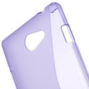 Gelové S-line pouzdro na Sony Xperia M2 D2302- fialové - 5