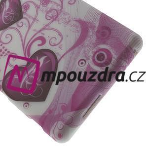 Gelové pouzdro na Sony Xperia M2 D2302 - dvě srdce - 5