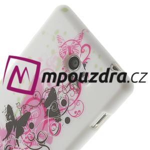 Gelové pouzdro na Sony Xperia M2 D2302 - motýlí květ - 5