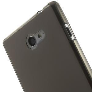 Gelové Ultraslim pouzdro na Sony Xperia M2 D2302- šedé - 5