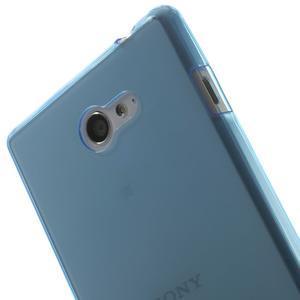 Gelové Ultraslim pouzdro na Sony Xperia M2 D2302- modré - 5