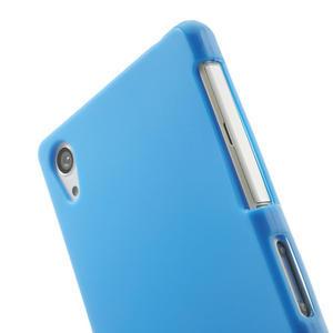 Gelové matné pouzdro na Sony Xperia Z2 D6503- modré - 5