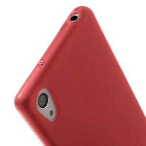 Gelové matné pouzdro na Sony Xperia Z2 D6503- červené - 5