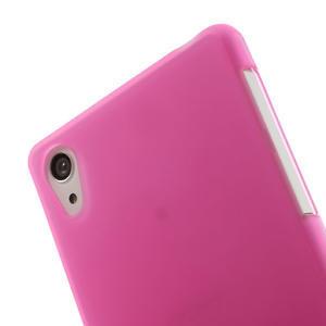 Gelové matné pouzdro na Sony Xperia Z2 D6503- růžové - 5