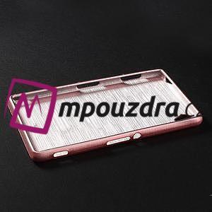 Gelové kartáčové pouzdro na Sony Xperia Z3 D6603 - světlerůžové - 5