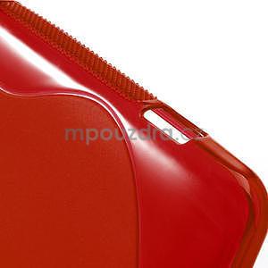 Gelové S-line pouzdro pro HTC Desire 200- červené - 5