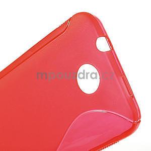 Gelové S-line pouzdro pro HTC Desire 300 Zara mini- červené - 5