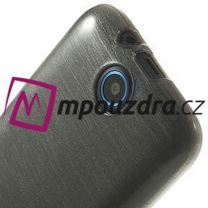 Gelové kartáčované pouzdro na HTC Desire 310- šedé - 5