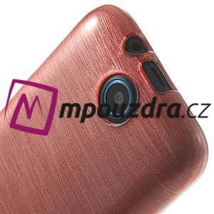 Gelové kartáčované pouzdro na HTC Desire 310- světlerůžové - 5