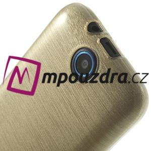 Gelové kartáčované pouzdro na HTC Desire 310- zlaté - 5