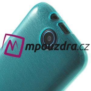 Gelové kartáčované pouzdro na HTC Desire 310- modré - 5