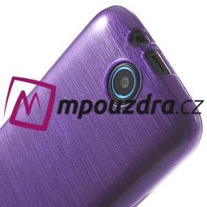 Gelové kartáčované pouzdro na HTC Desire 310- fialové - 5