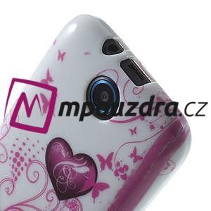Gelové pouzdro na HTC Desire 310- dvě srdce - 5