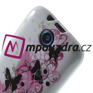 Gelové pouzdro na HTC Desire 310- motýl květ - 5