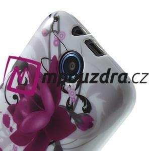 Gelové pouzdro na HTC Desire 310- fialový květ - 5