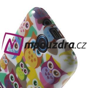 Gelové pouzdro na HTC Desire 310- barevné sovy - 5