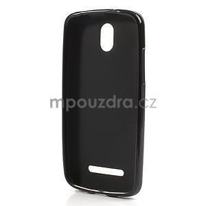 Gelové matné pouzdro pro HTC Desire 500- černé - 5
