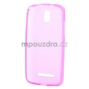 Gelové matné pouzdro pro HTC Desire 500- růžové - 5