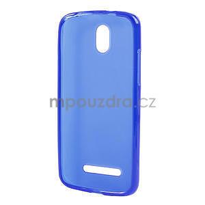Gelové matné pouzdro pro HTC Desire 500- modré - 5