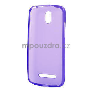 Gelové matné pouzdro pro HTC Desire 500- fialové - 5