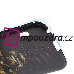 Gelová pouzdro pro LG Optimus L5 Dual E455- lebka - 5
