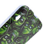 Gelová pouzdro pro LG Optimus L5 Dual E455- zelené lebky - 5/5