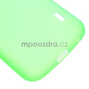 Matné gelové pouzdro pro LG Optimus L5 Dual E455- zelené - 5