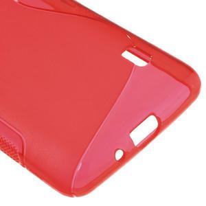 Gelové S-line pouzdro na LG Optimus F6 D505- červené - 5