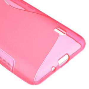Gelové S-line pouzdro na LG Optimus F6 D505- růžové - 5
