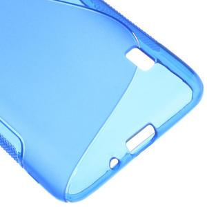 Gelové S-line pouzdro na LG Optimus F6 D505- modré - 5