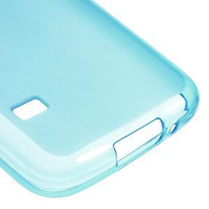 Gelové matné pouzdro na Samsung Galaxy S5 mini G-800- modré - 5