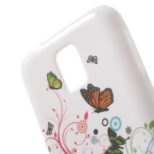 Gelové pouzdro na Samsung Galaxy S5 mini G-800- motýli - 5
