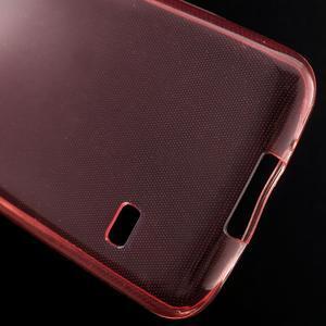 Gelové 0.6mm pouzdro na Samsung Galaxy S5 mini G-800- červené - 5
