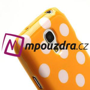 Gelový Puntík pro Samsung Galaxy S4 mini i9190- oranžové - 5