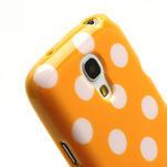 Gelový Puntík pro Samsung Galaxy S4 mini i9190- oranžové - 5/6
