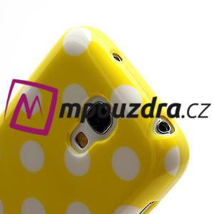 Gelový Puntík pro Samsung Galaxy S4 mini i9190- žlutá - 5