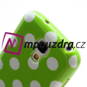 Gelový Puntík pro Samsung Galaxy S4 mini i9190- zelené - 5