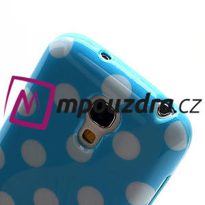 Gelový Puntík pro Samsung Galaxy S4 mini i9190- modrá - 5