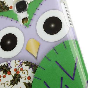 Gelové pouzdro na Samsung Galaxy S4 mini i9190- sova zelená - 5