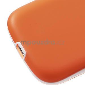 Gelové rámované pouzdro na Samsung Galaxy S3 i9300- oranžové - 5