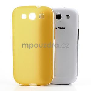 Gelové rámované pouzdro na Samsung Galaxy S3 i9300- žluté - 5
