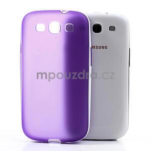 Gelové rámované pouzdro na Samsung Galaxy S3 i9300- fialové - 5
