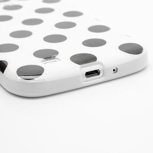 Gelové Puntík pouzdro na Samsung Galaxy S4 i9500- bílé - 5