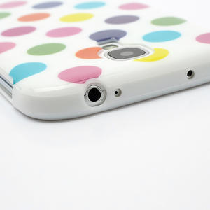 Gelové Puntík pouzdro na Samsung Galaxy S4 i9500- bílobarevné - 5