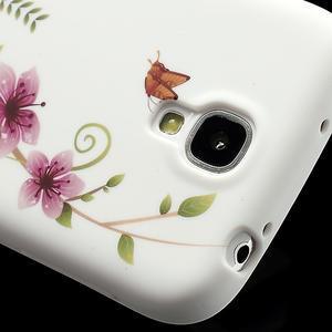 Gelové pouzdro pro Samsung Galaxy S4 i9500- kvetoucí květ - 5