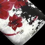 Gelové pouzdro pro Samsung Galaxy S4 i9500- červený květ - 5/7